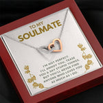 "TO MY SOULMATE ""TEASE YOU"" INTERLOCKING HEARTS NECKLACE GIFT SET - ON CLOUD NINE GIFTS"
