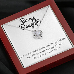 "BONUS DAUGHTER ""THE GIFT OF YOU"" LOVE KNOT NECKLACE GIFT SET - ON CLOUD NINE GIFTS"