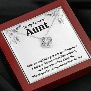"TO MY FAV AUNT ""LIKE"" LOVE KNOT NECKLACE GIFT SET - ON CLOUD NINE GIFTS"