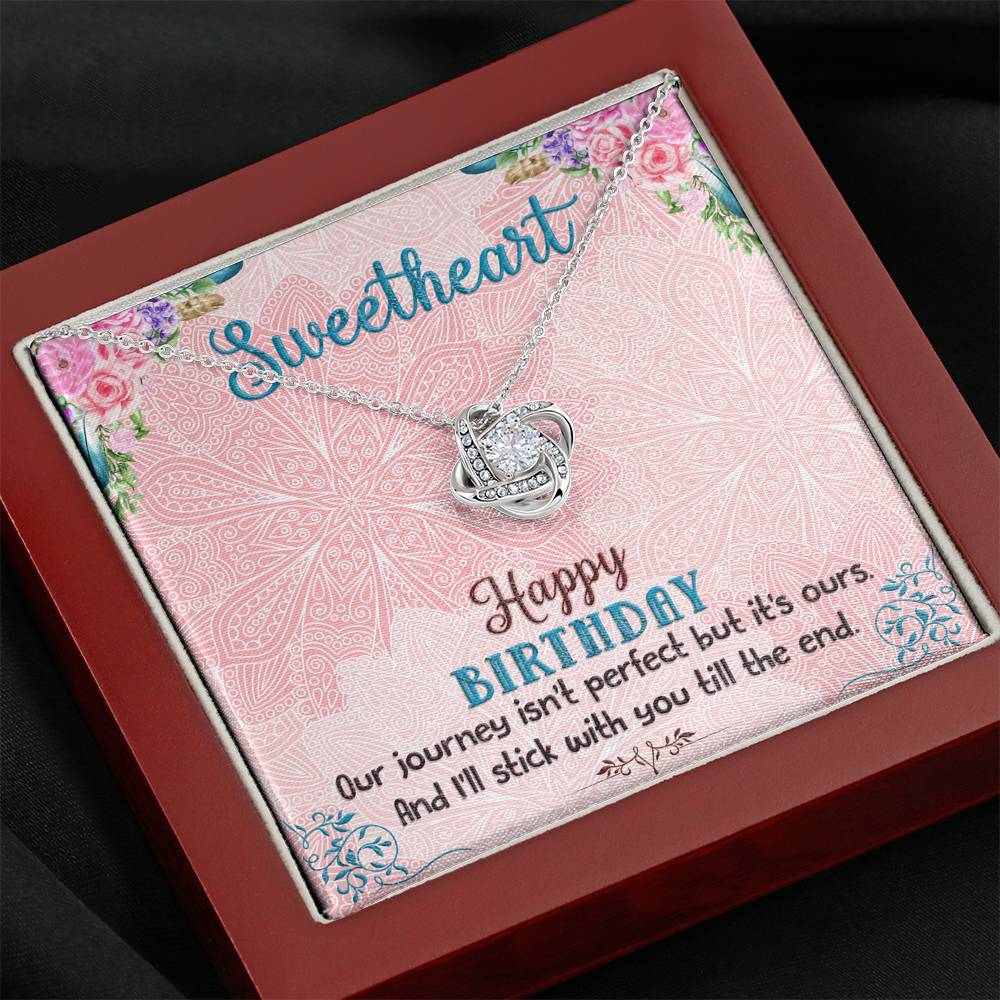 "TO MY SWEETHEART ""OUR JOURNEY"" LOVE KNOT NECKLACE BIRTHDAY GIFT SET - ON CLOUD NINE GIFTS"