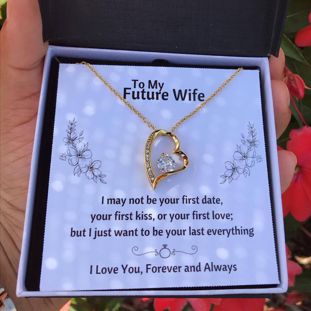 TO MY FUTURE WIFE HEART NECKLACE | MESSAGE CARD | GIFT BOX - ON CLOUD NINE GIFTS