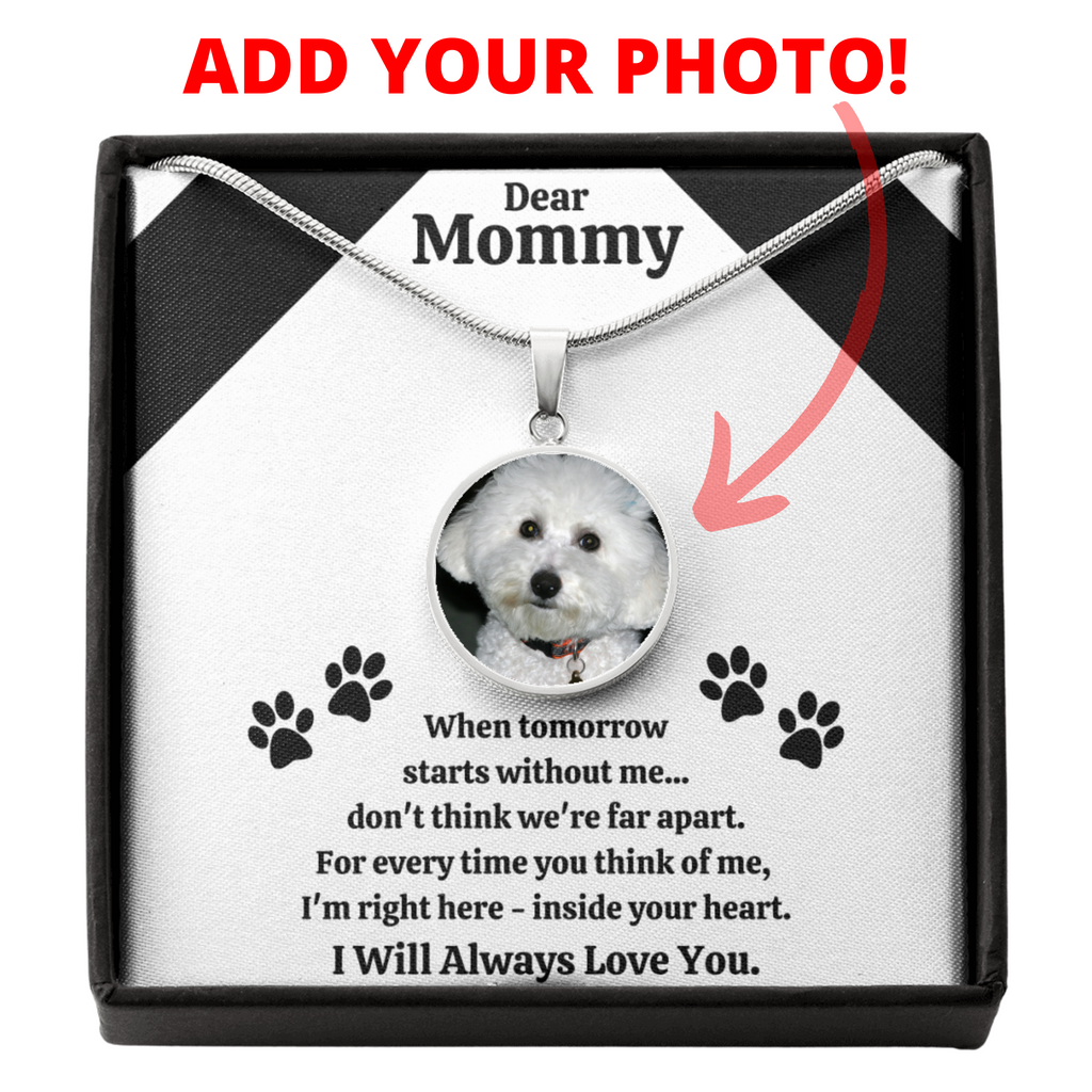 DEAR MOMMY PET REMEMBRANCE NECKLACE GIFT SET - ON CLOUD NINE GIFTS