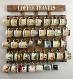 Starbucks Coffee Cup Holder, Coffee Cup Rack, 40 Hook Coffee Mug Rack, Coffee Mug Holder, Holds Starbucks You Are Here And Been There Mugs