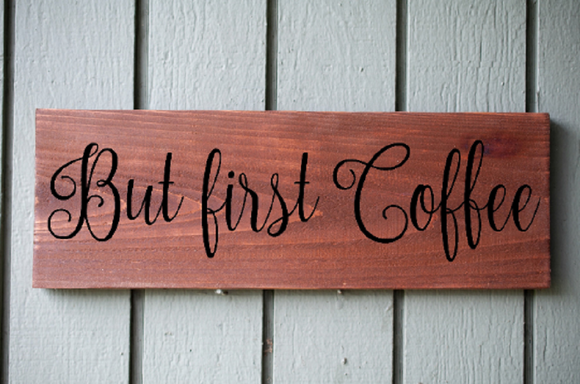 Custom But First Coffee Sign, Home Office Decor, Coffee Bar Sign, Rustic Wood Sign, Wall hanging, home Decoration, Laser Engraved Signs