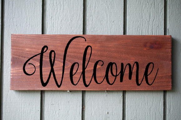 Custom Welcome Sign, Home Office Decor, Rustic Wood Sign, Wall hanging, home Decoration, Laser Engraved Signs
