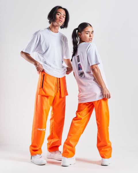 HAUS Party Track Pants - Orange