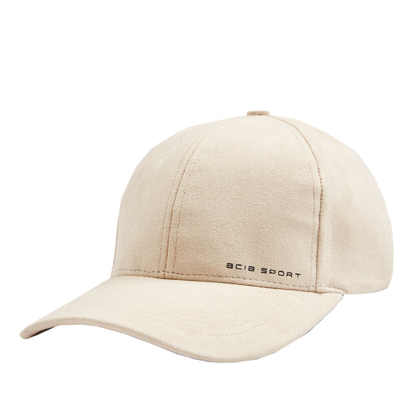 Suede 6 Panel With Strap Badge - Stone