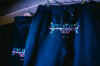 Rhinestone Sweatpants - Black