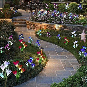 Solar Powered Lily Flower Light - 2 Pack | The Galaxy Lite ™️