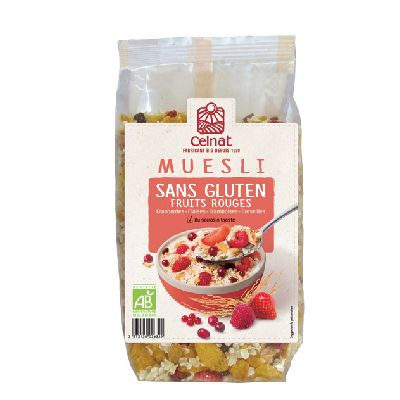 Muesli Ss Gluten Fruits Rouges 375G Celnat