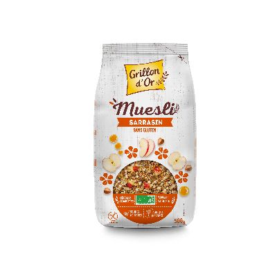 Muesli Sarrasin 500 G Grillon Or