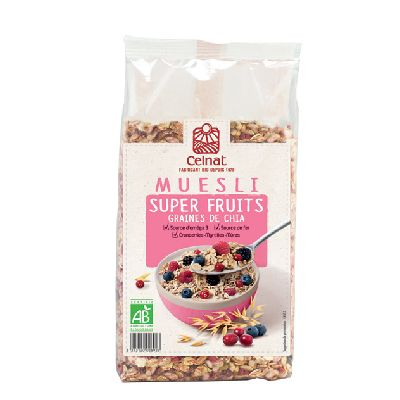 Muesli Super Fruits Graines De Chia 375G Celna