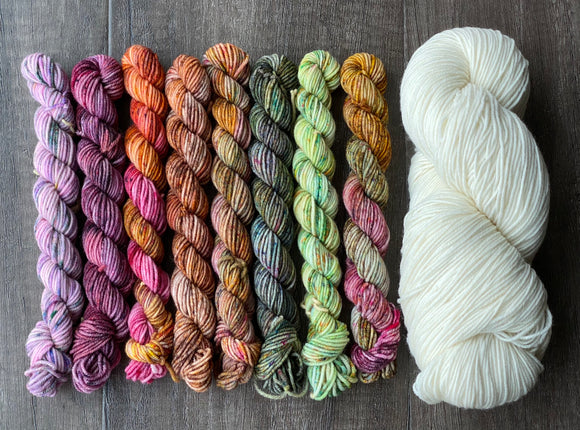 Deck the Tree Asteroid Sock Mini Skein Set (plus full skein)
