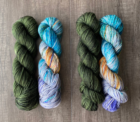 Verdant and Grotto Lucky 50/50 Sock Set