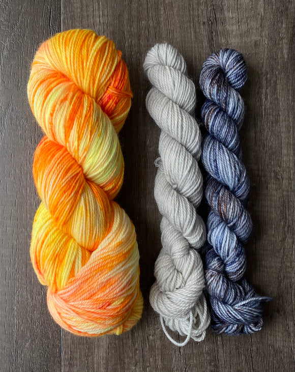 As Bright As it Gets + Purl and As Stormy As it Gets Minis (Solar Sock Set)