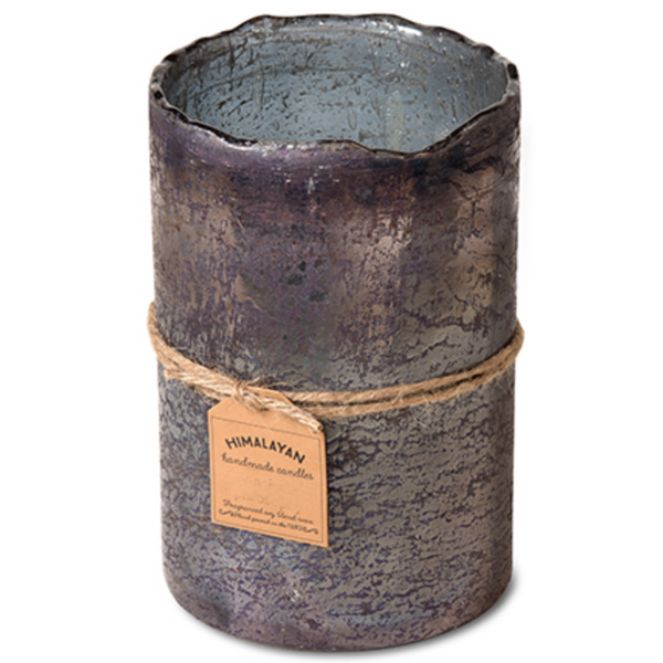Large Smoky Grey Hurricane Candle