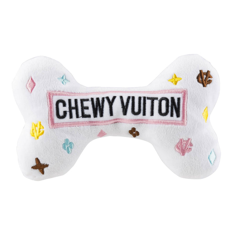 White Chewy Vuiton Plush Bone
