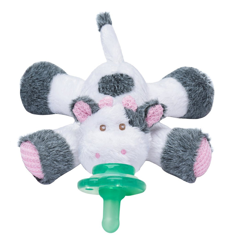 Cutsie Cow Paci-Plushies Pacifier Holder-Nookums-Sol y Luna Salon
