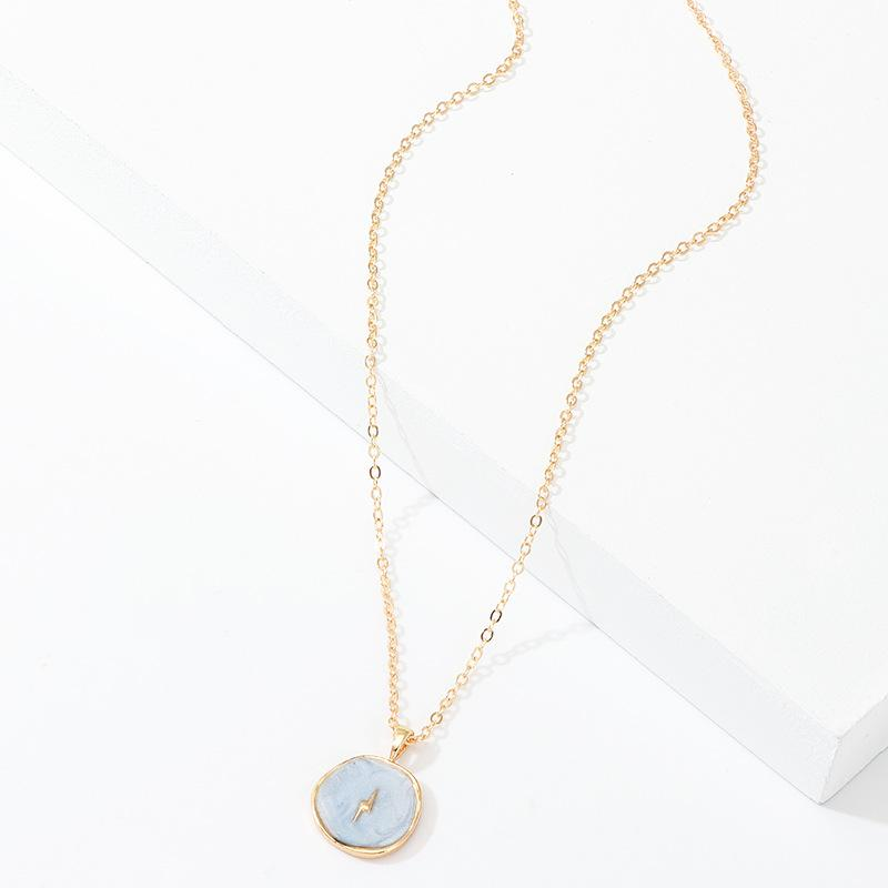 Enamel Lightning Pendant Necklace