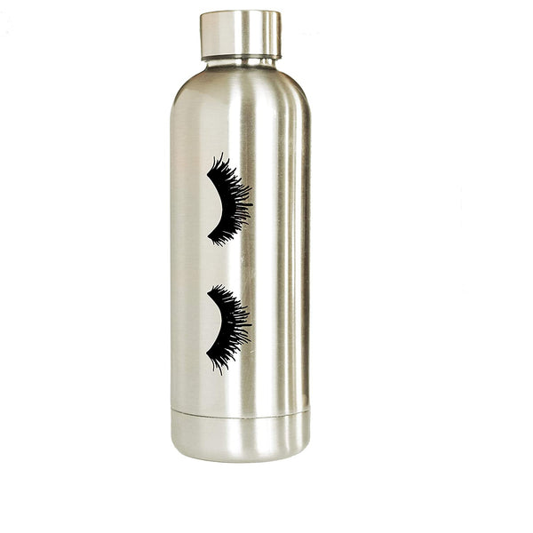 Eyelashes Metal Water Bottle-Sweet Water Decor-Sol y Luna Salon