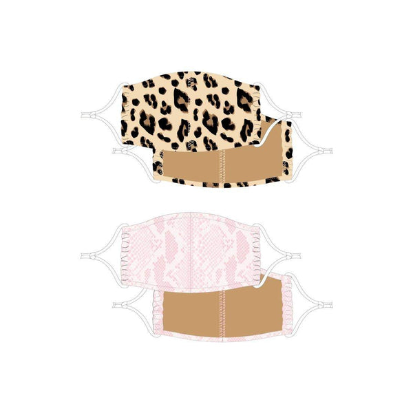 Face Mask 2 Pack - Leopard/Snake (Pre-order)-8 Oak Lane-default-Sol y Luna Salon