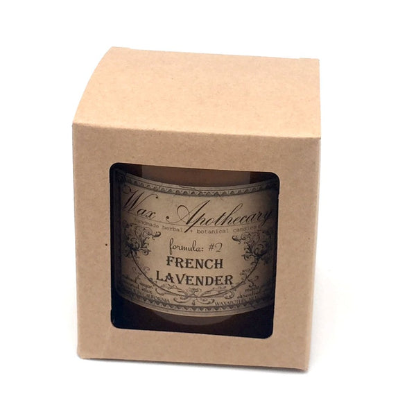 French Lavender Artisan Amber Glass Candle-Wax Apothecary-French Lavender-Sol y Luna Salon