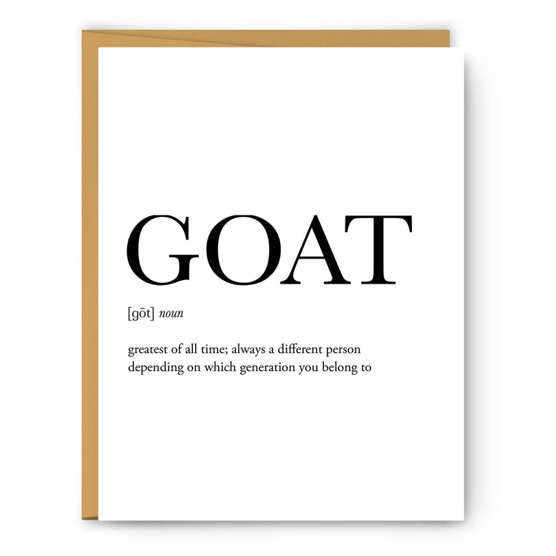 GOAT Definition Greeting Card