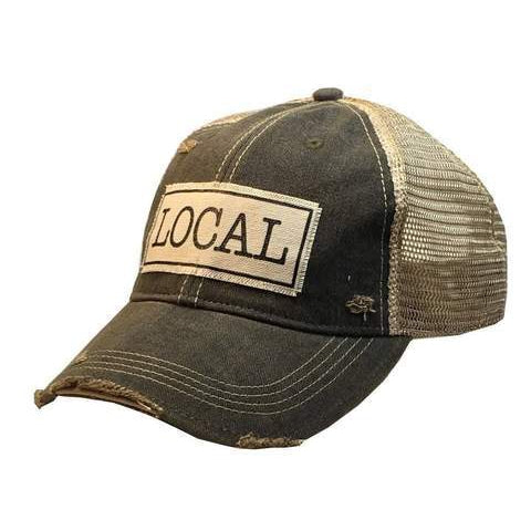 Local Distressed Trucker Cap - Black-Vintage Life-Sol y Luna Salon