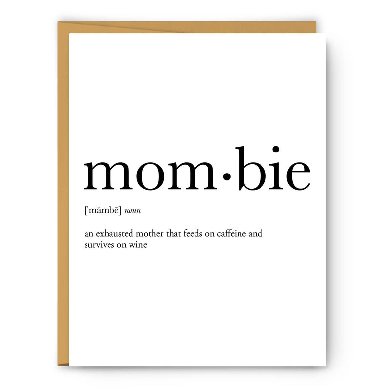 Mombie Definition Greeting Card
