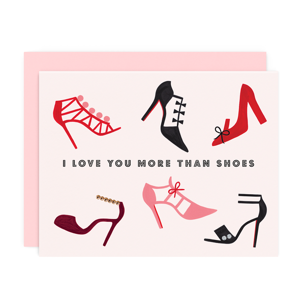 More Than Shoes Greeting Card-Girl w/ Knife-Sol y Luna Salon