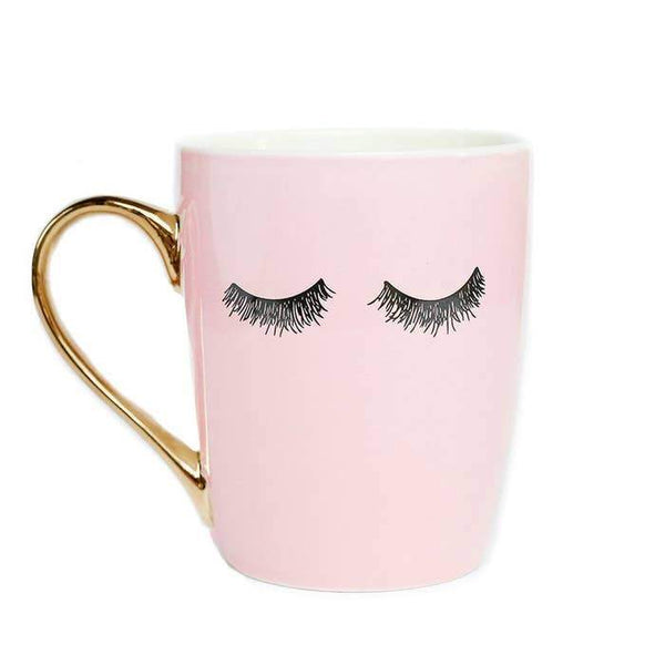 Pink Eyelashes Coffee Mug-Sweet Water Decor-Sol y Luna Salon