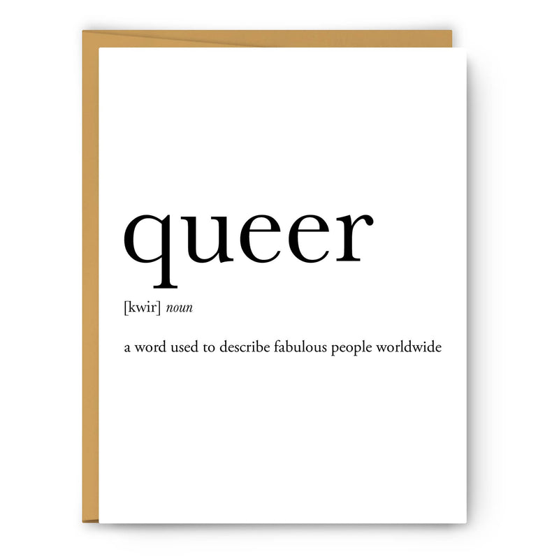 Queer Definition Greeting Card