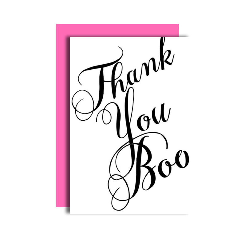 Thank You Boo Card-Carla Sue Greeting Cards-Sol y Luna Salon