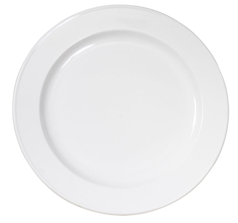 Royal White New Bone Rim Plate 28 cm