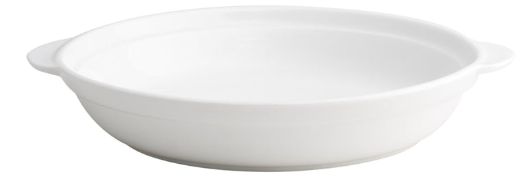 Royal White New Bone Round Deep Dish 23 cm