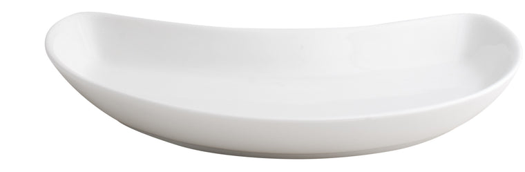Royal White New Bone Crescent Salad Plate 19.5x13.5x2.5 cm