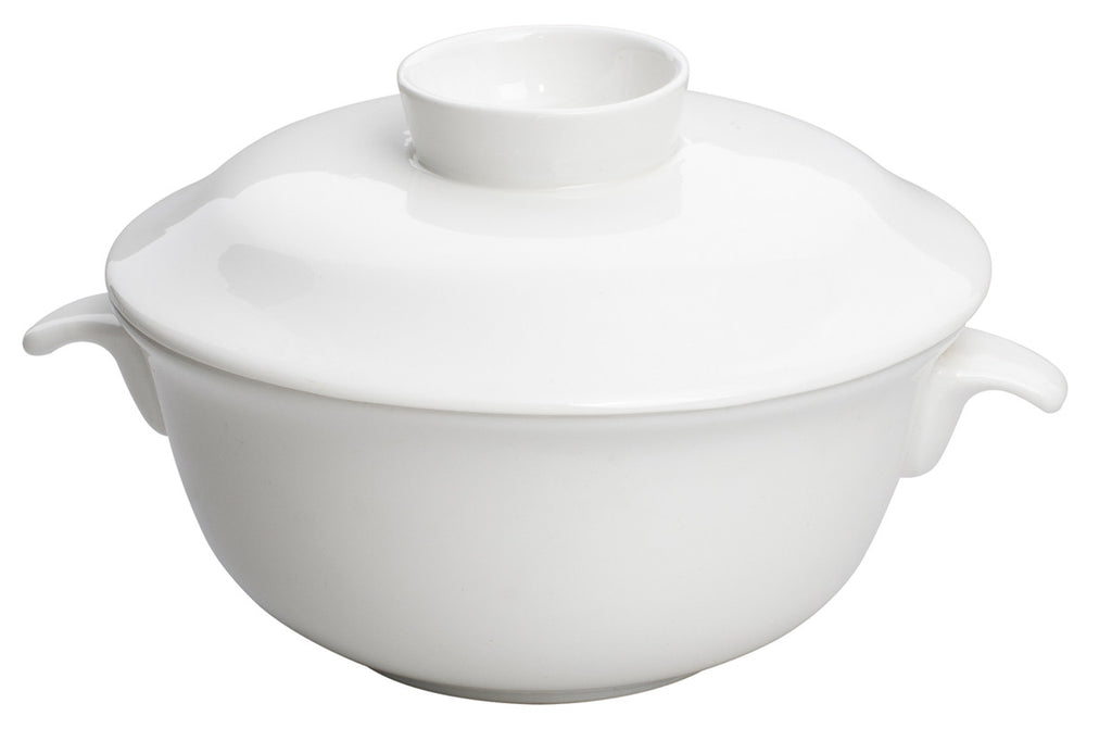 Royal White New Bone Soup Bowl with Lid 11.5 cm 210 cc