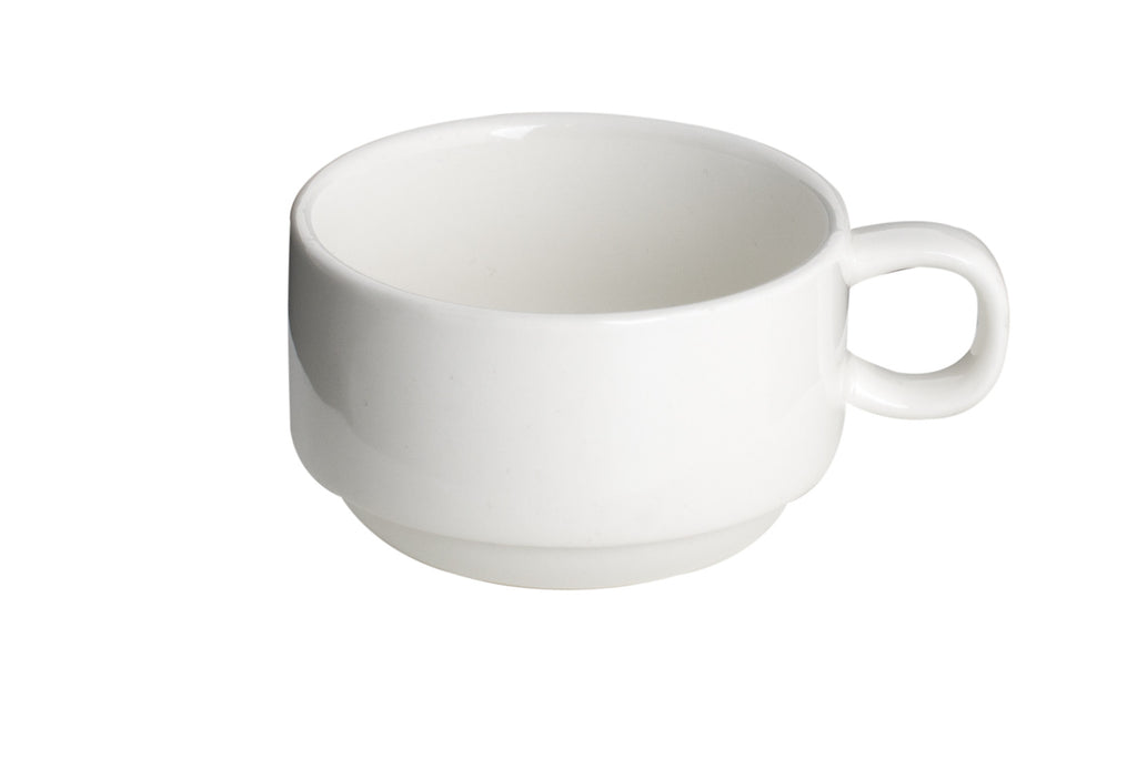 Royal White New Bone Tea / Coffee Cup (Stackable) 200 cc