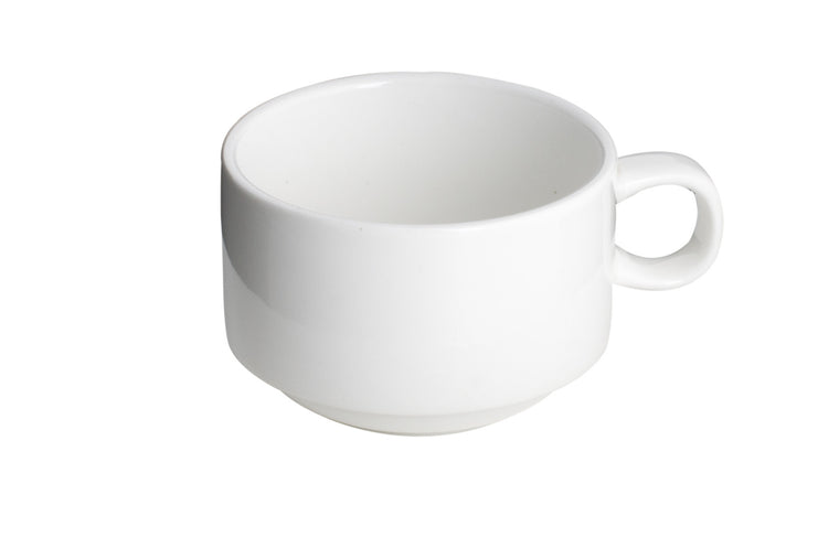 Royal White New Bone Tea / Coffee Cup (Stackable) 210 cc
