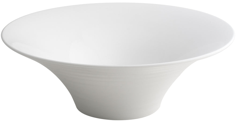 Royal White New Bone Round Bowl 30x30x10.5 cm