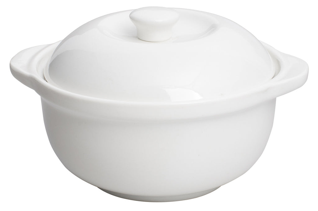 Royal White New Bone Soup Bowl with Lid 350 cc 130x60 mm