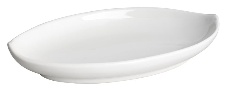 Royal White New Bone Mango Dish 19.8x11.2 cm