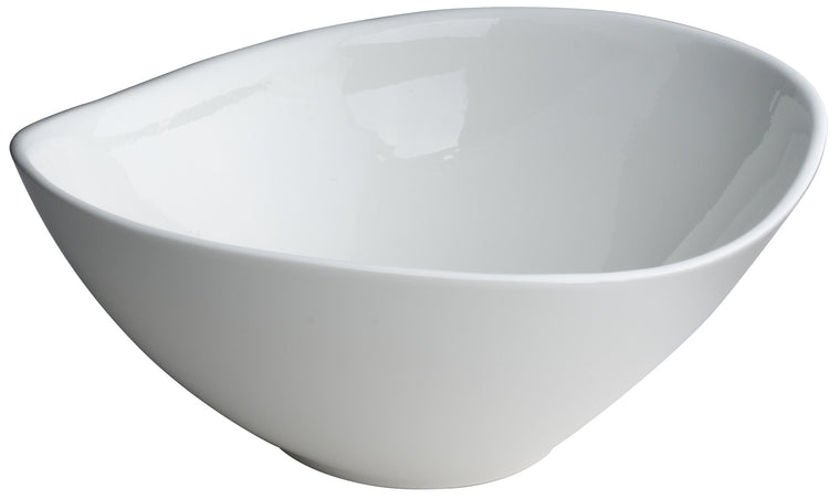Royal White New Bone Curve Oval Shape Dish 34.5x25.5x13.5 cm