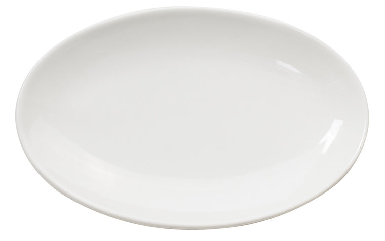 Royal White New Bone Oval Coupe Platter 22.5 cm