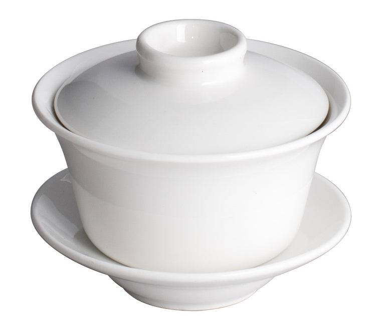 Royal White New Bone Chappei Cup With Saucer & Cover