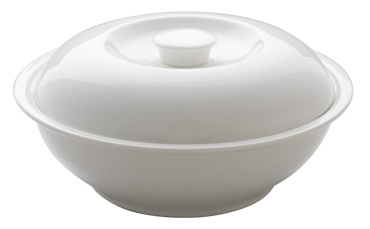 Royal White New Bone Casserole with Lid 25.5 cm