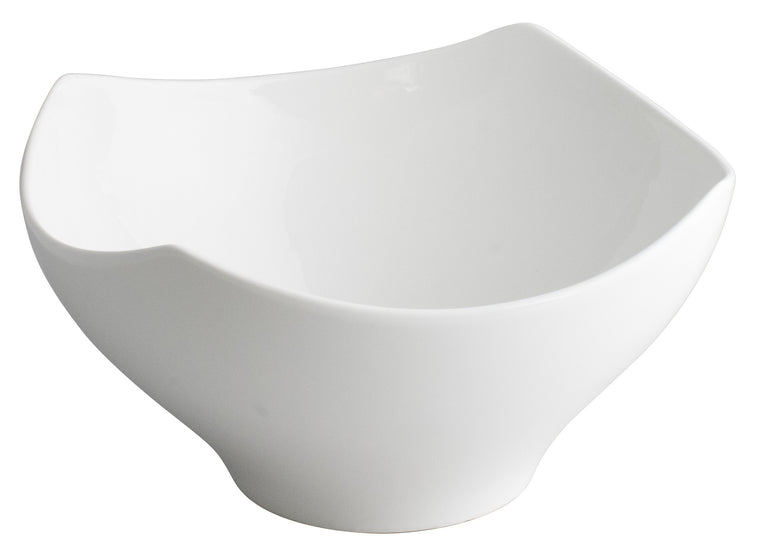 Royal White New Bone Arch Shape Square Bowl 27.5x27.5x14.5 cm