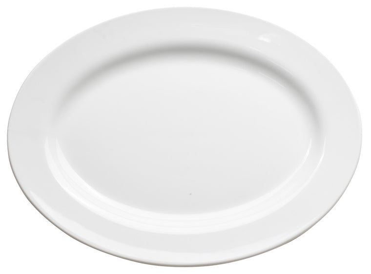 Royal White New Bone Oval Plate 46 cm