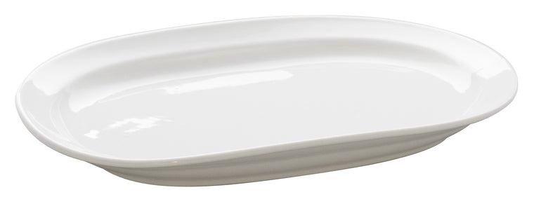 Royal White New Bone Oval Platter 32x20 cm