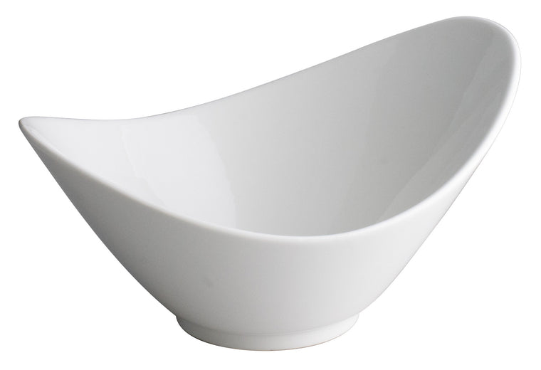 Royal White New Bone Bowl W-Two Angles 26.8x20x14.3 cm